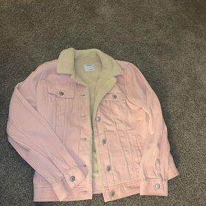 Pink Sherpa Jean Jacket
